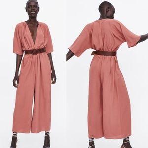 Zara | Belted Wrap Jumpsuit